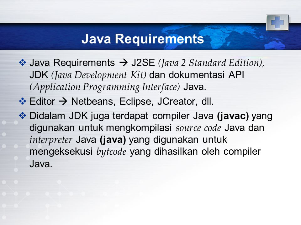 Java Requirements