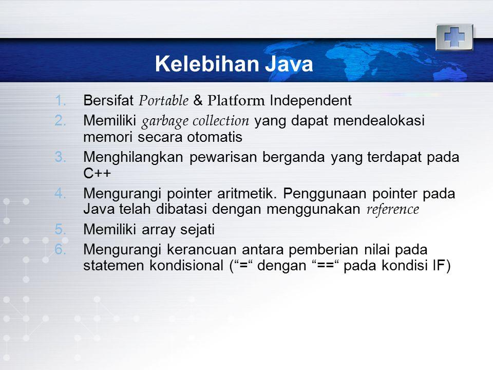Kelebihan Java Bersifat Portable & Platform Independent