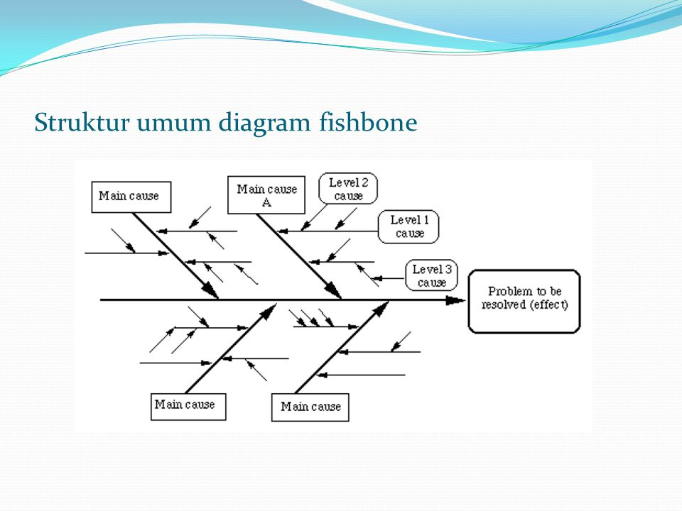 Struktur umum diagram fishbone