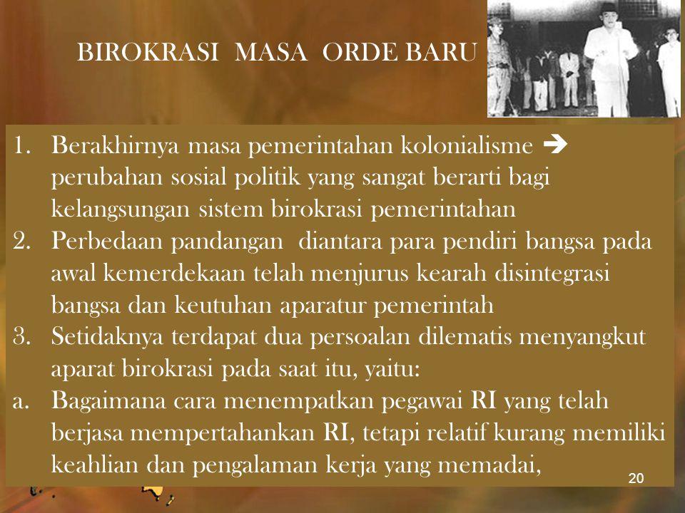 BIROKRASI MASA ORDE BARU