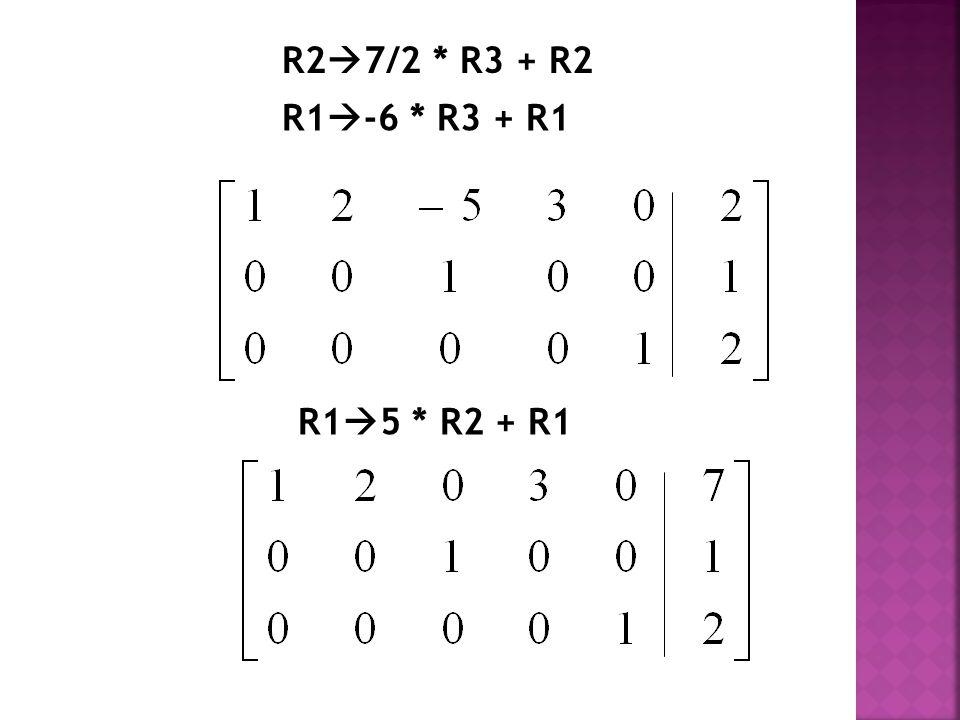 R27/2 * R3 + R2 R1-6 * R3 + R1 R15 * R2 + R1
