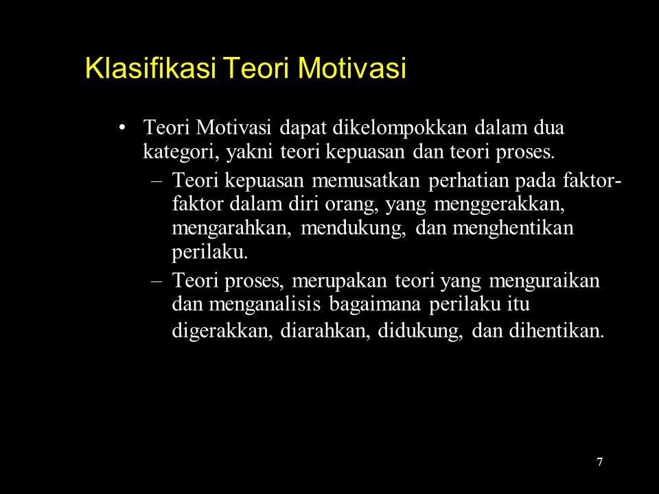 Klasifikasi Teori Motivasi