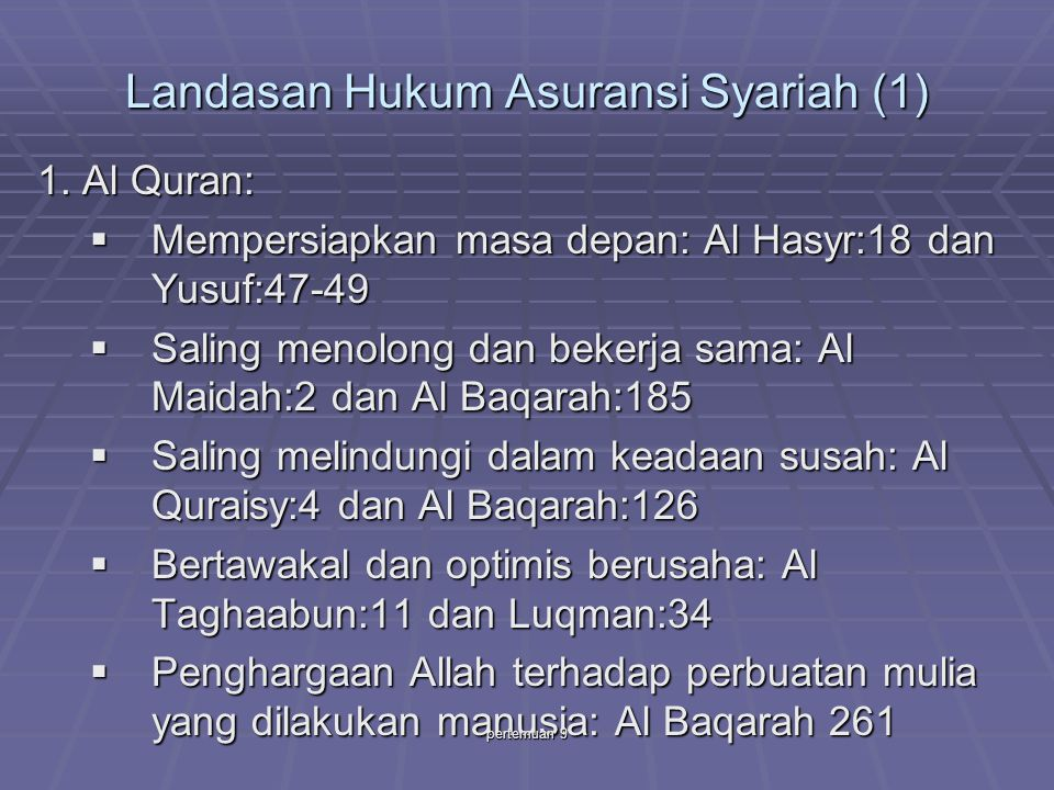 Landasan Hukum Asuransi Syariah (1)
