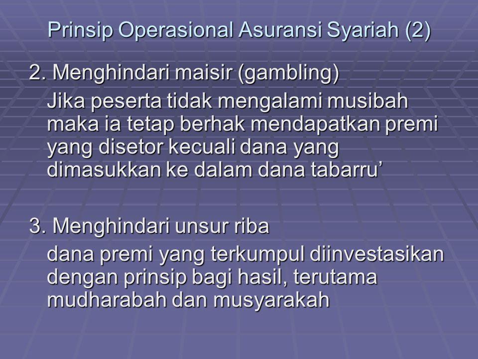 Prinsip Operasional Asuransi Syariah (2)