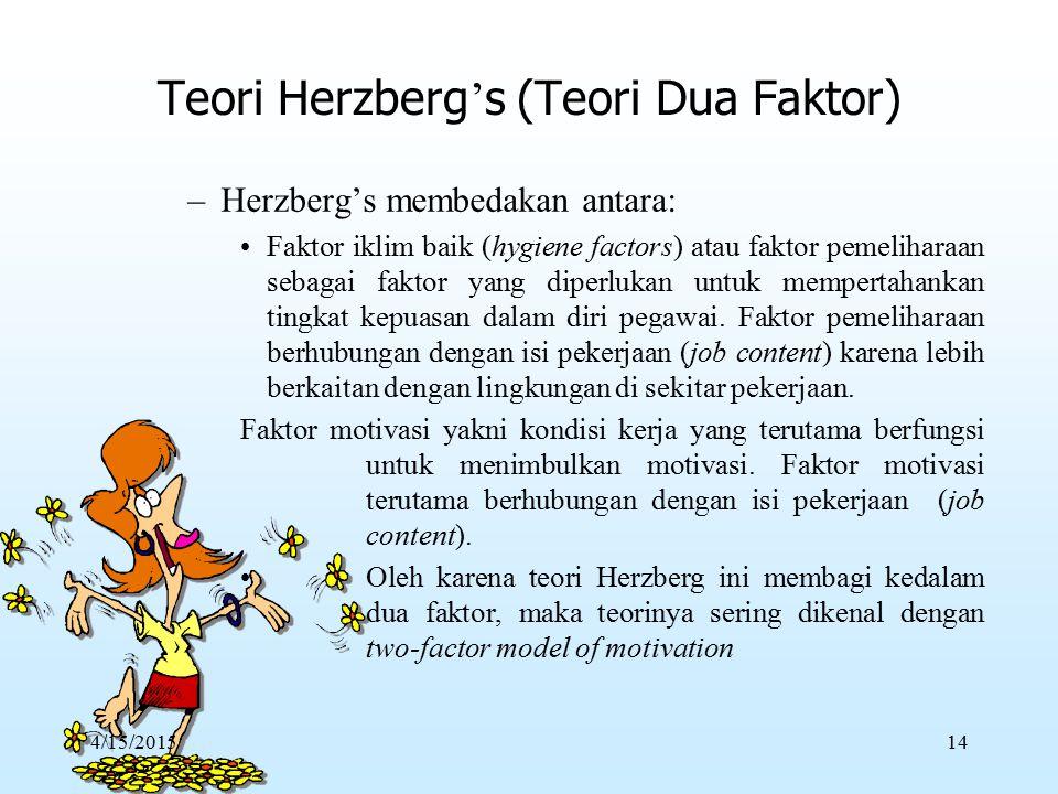 Teori Herzberg's (Teori Dua Faktor)