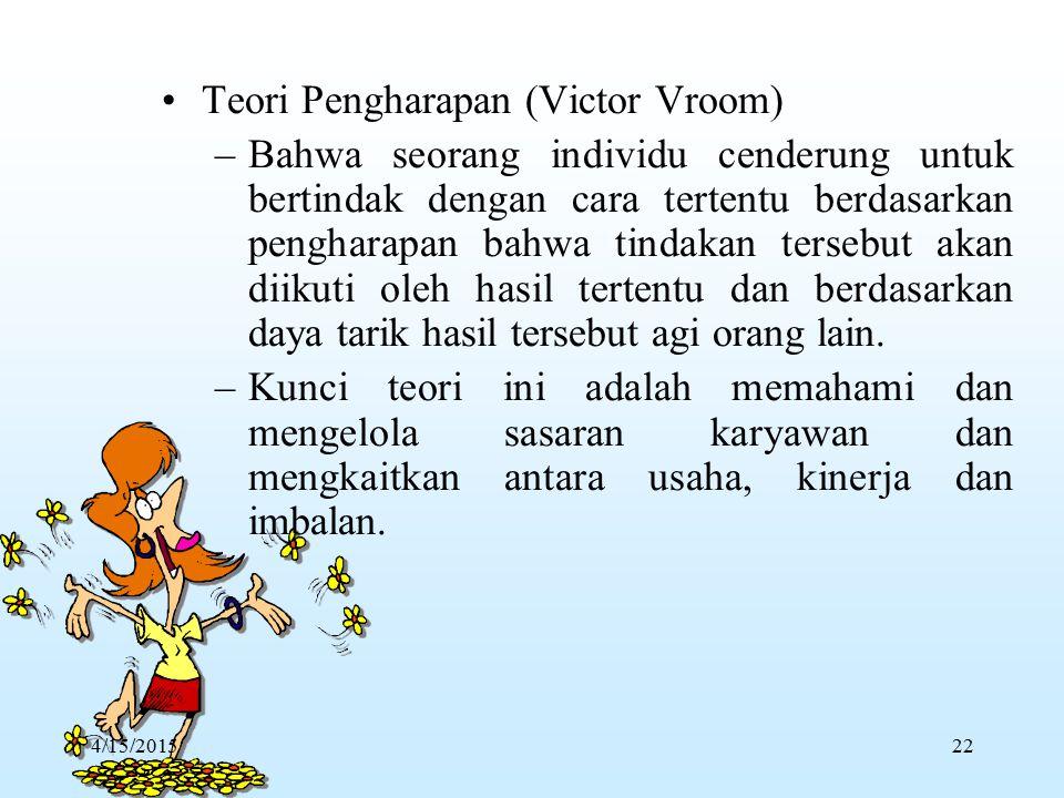 Teori Pengharapan (Victor Vroom)