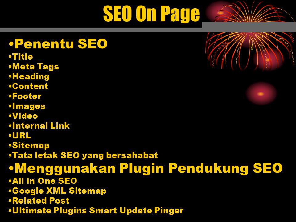 SEO On Page Penentu SEO Menggunakan Plugin Pendukung SEO Title