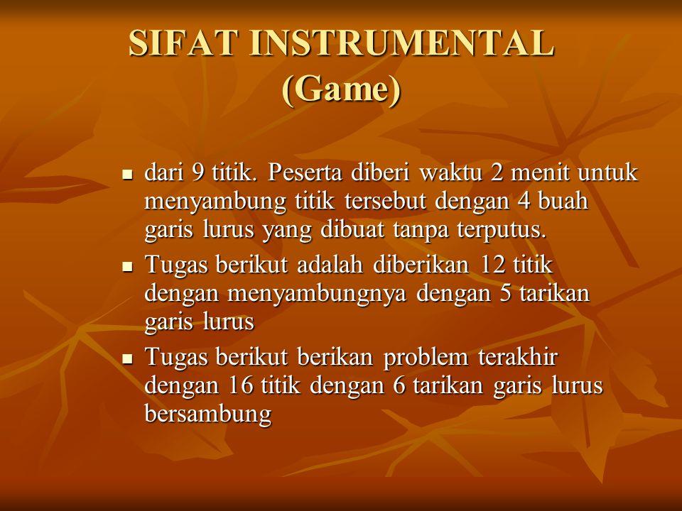 SIFAT INSTRUMENTAL (Game)