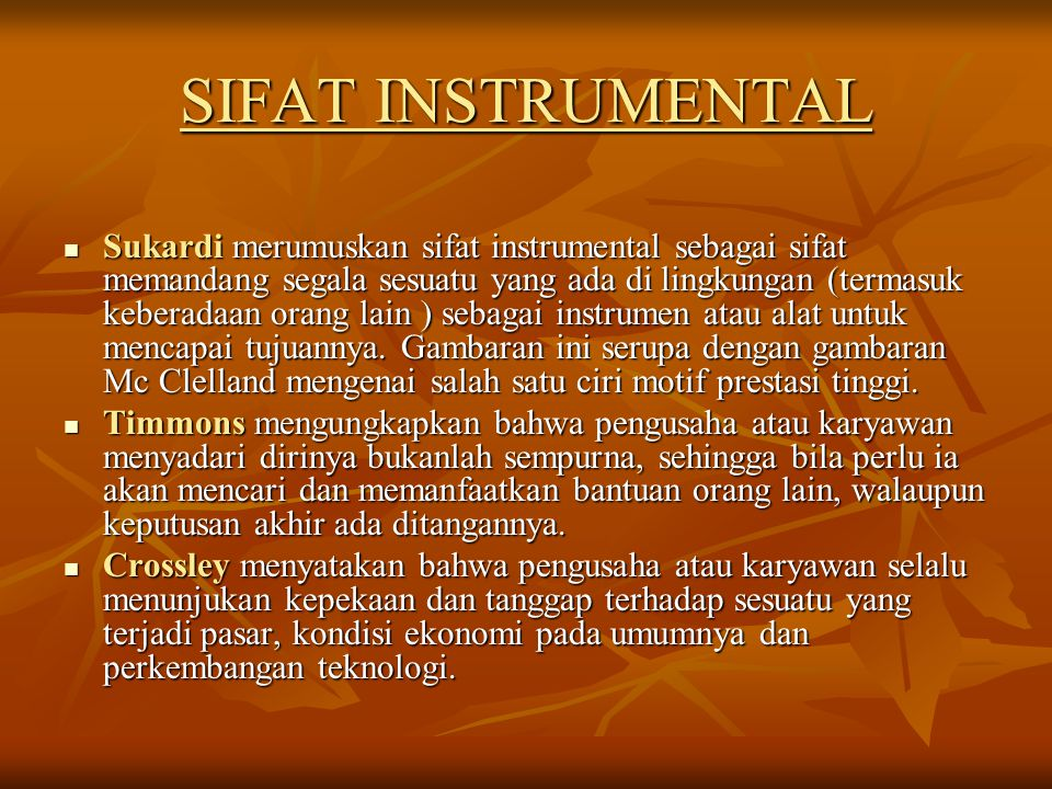 SIFAT INSTRUMENTAL