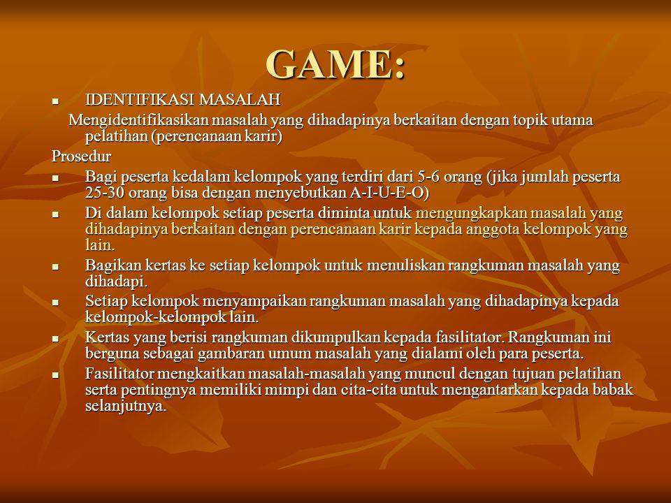 GAME: IDENTIFIKASI MASALAH