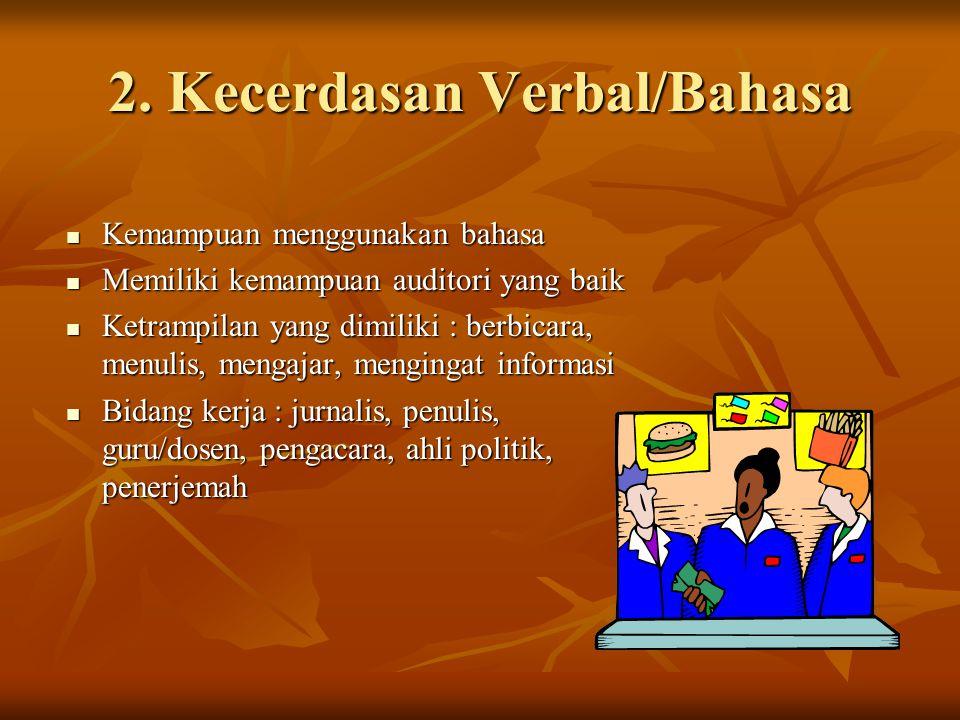 2. Kecerdasan Verbal/Bahasa