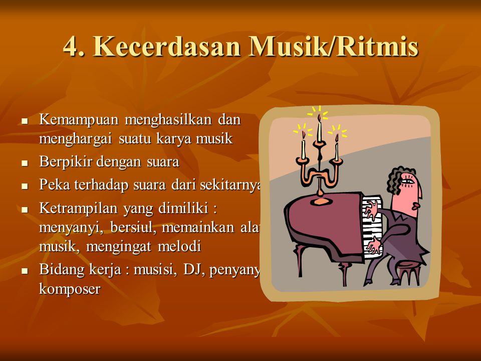 4. Kecerdasan Musik/Ritmis