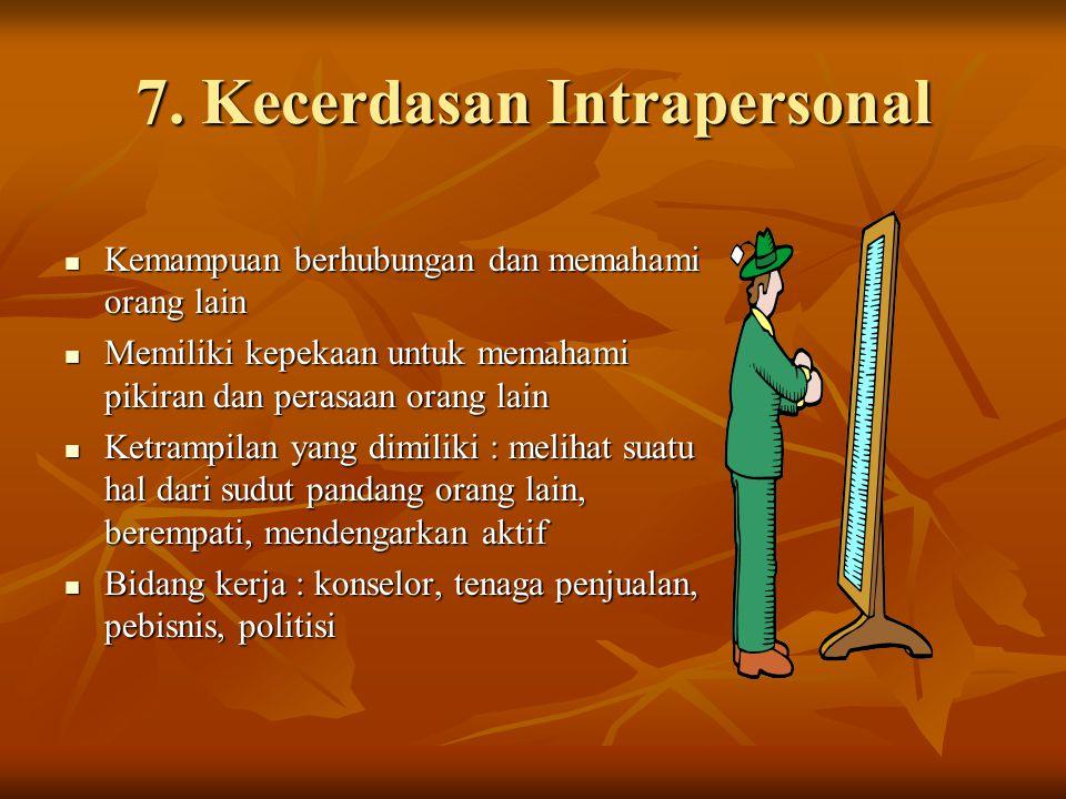 7. Kecerdasan Intrapersonal