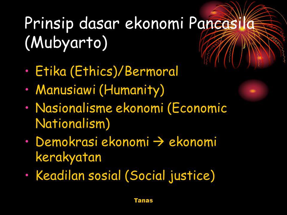 Prinsip dasar ekonomi Pancasila (Mubyarto)