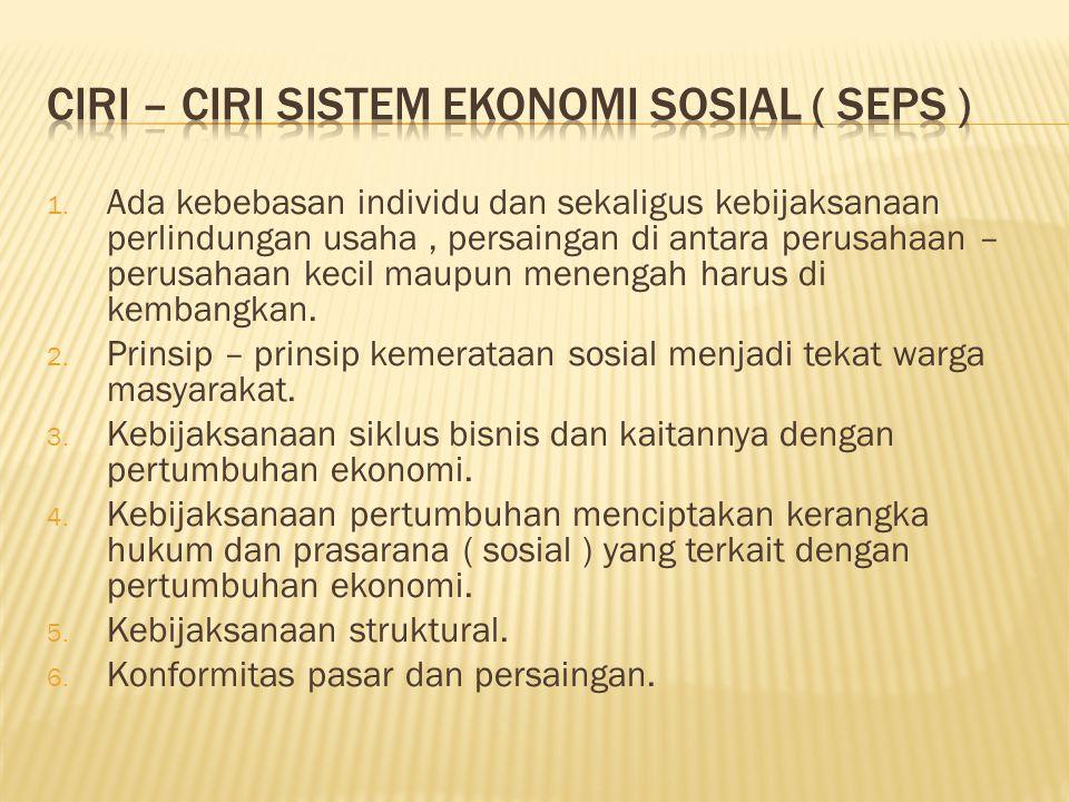 Ciri – ciri sistem ekonomi sosial ( seps )