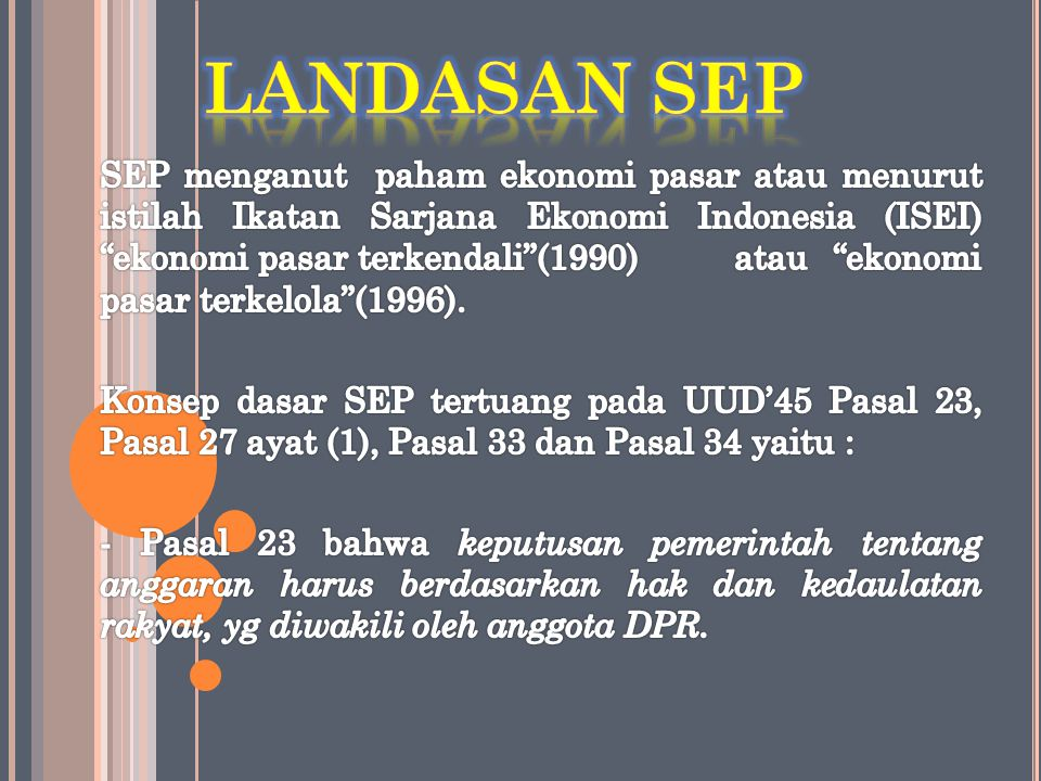 LANDASAN SEP