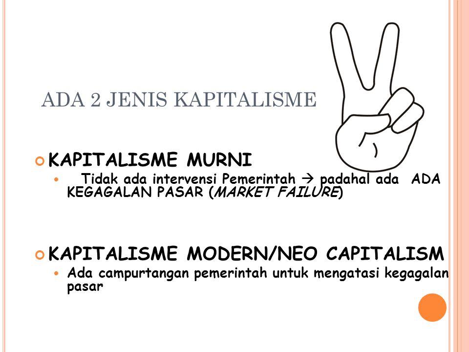 ADA 2 JENIS KAPITALISME KAPITALISME MURNI