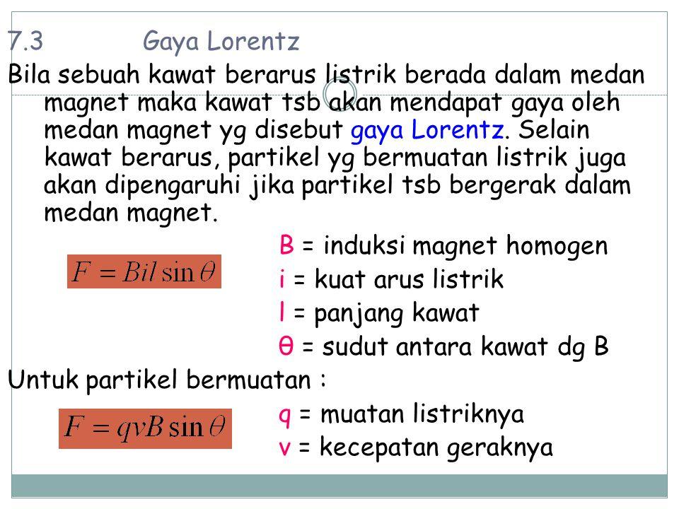 7.3 Gaya Lorentz