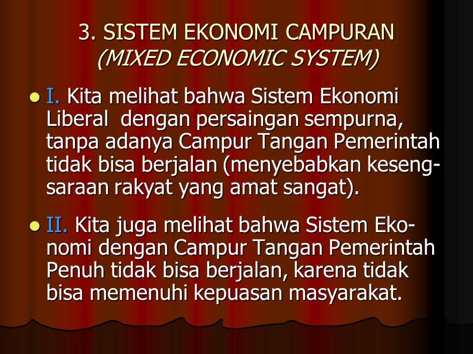 3. SISTEM EKONOMI CAMPURAN (MIXED ECONOMIC SYSTEM)