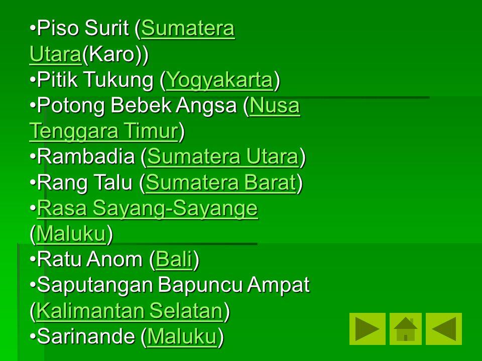 Piso Surit (Sumatera Utara(Karo))