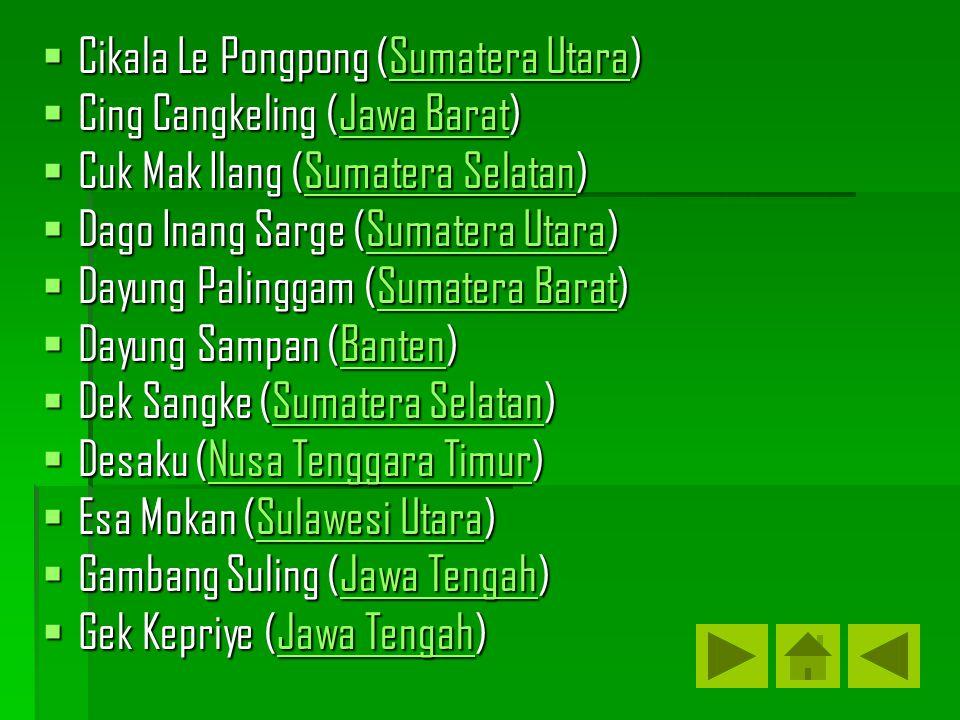 Cikala Le Pongpong (Sumatera Utara)