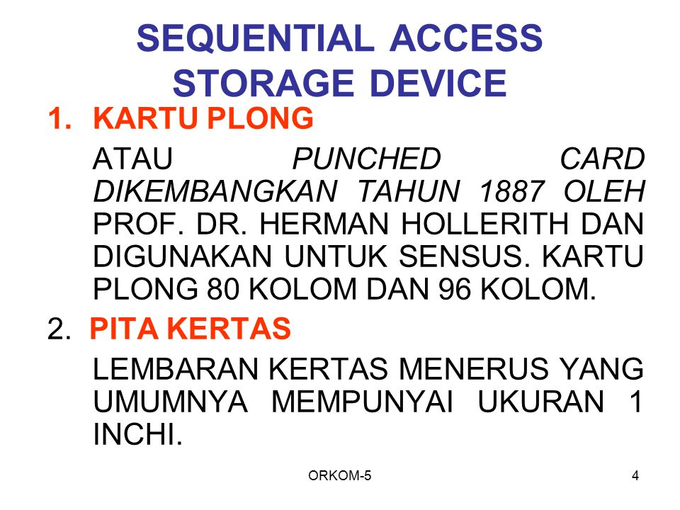 SEQUENTIAL ACCESS STORAGE DEVICE