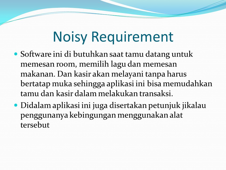 Noisy Requirement