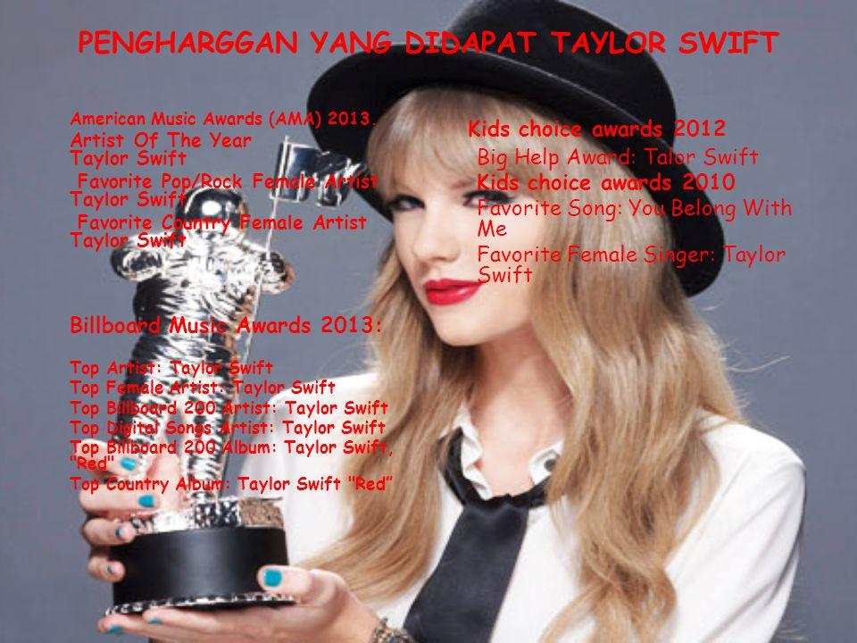 PENGHARGGAN YANG DIDAPAT TAYLOR SWIFT