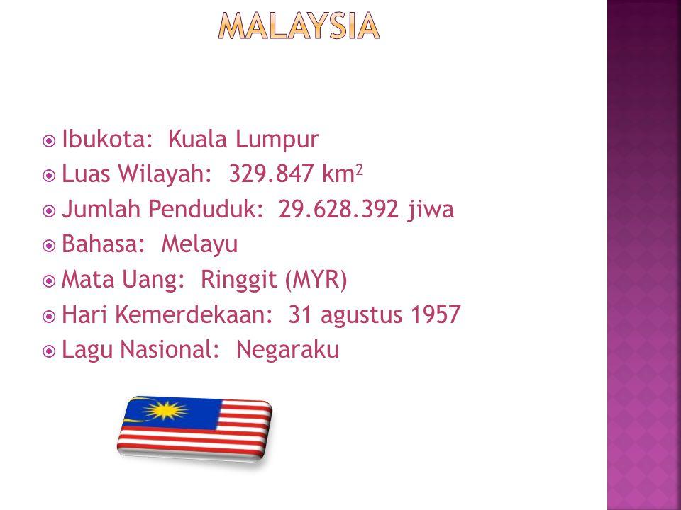 Malaysia Ibukota: Kuala Lumpur Luas Wilayah: 329.847 km2