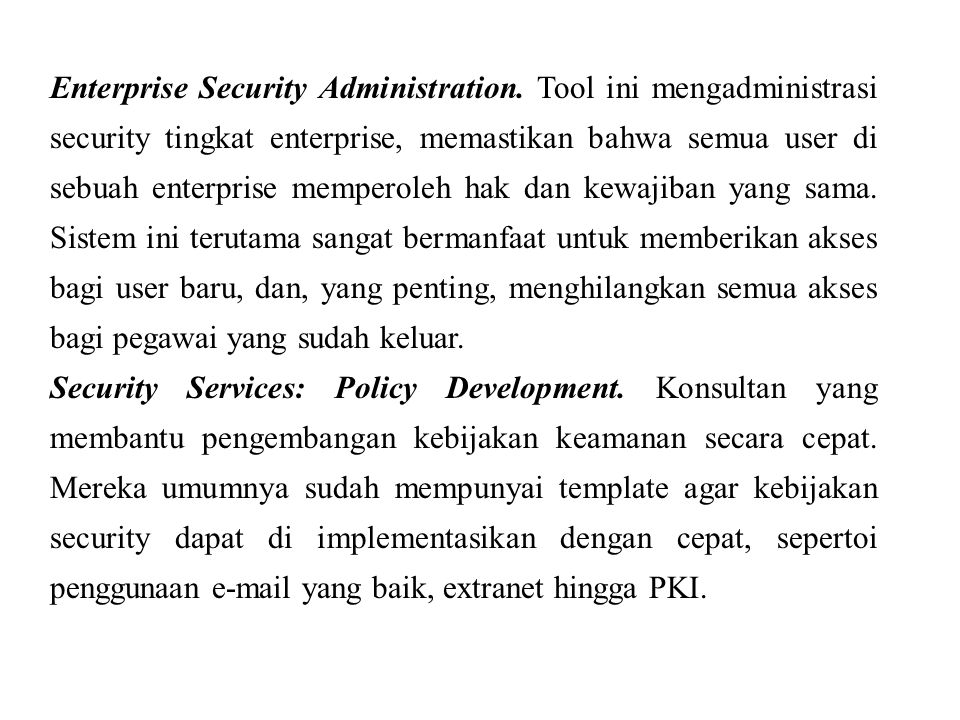 Enterprise Security Administration