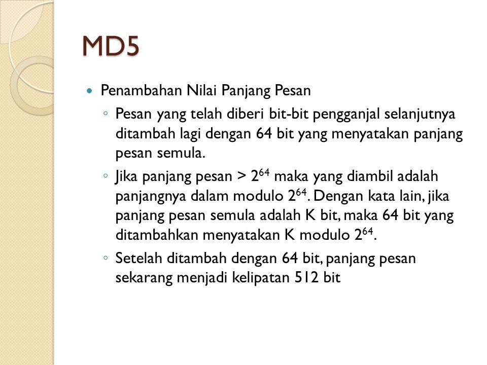 MD5 Penambahan Nilai Panjang Pesan
