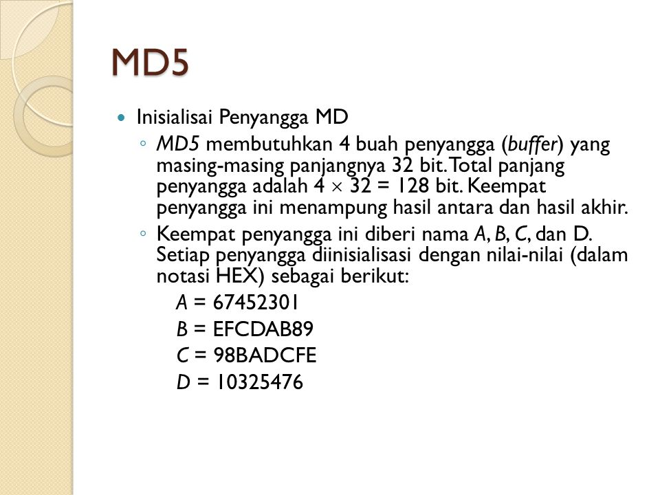 MD5 Inisialisai Penyangga MD