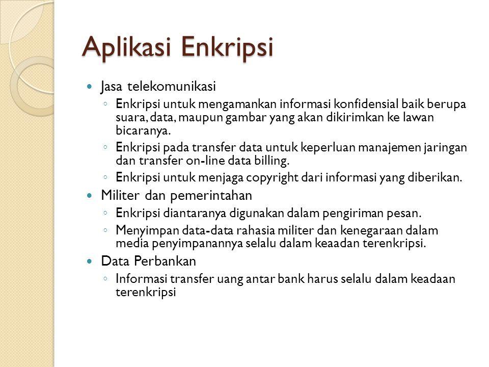 Aplikasi Enkripsi Jasa telekomunikasi Militer dan pemerintahan