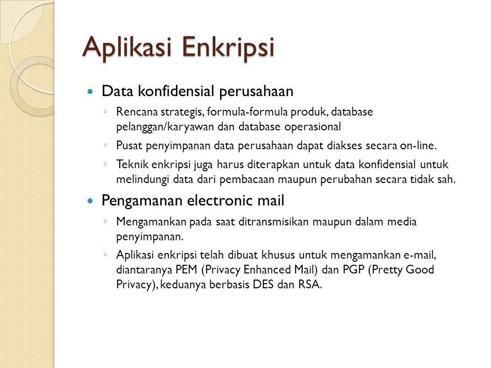 Aplikasi Enkripsi Data konfidensial perusahaan