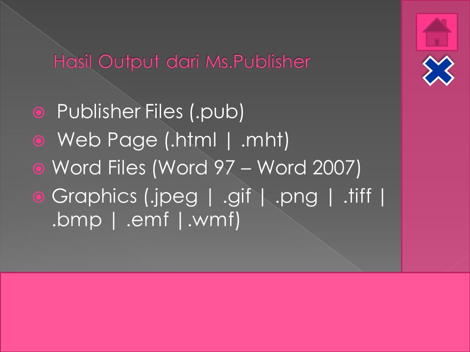Hasil Output dari Ms.Publisher