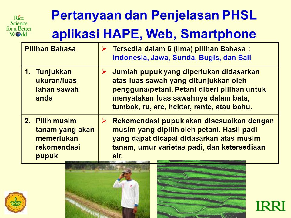 Pertanyaan dan Penjelasan PHSL aplikasi HAPE, Web, Smartphone