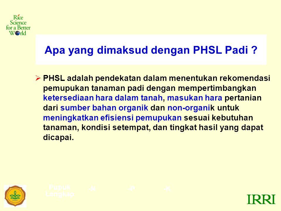 Apa yang dimaksud dengan PHSL Padi