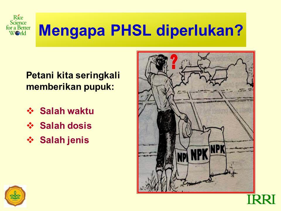 Mengapa PHSL diperlukan