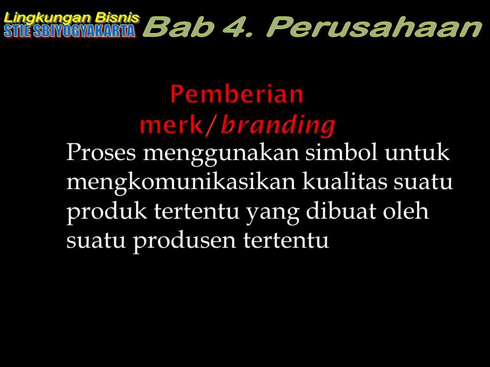 Pemberian merk/branding