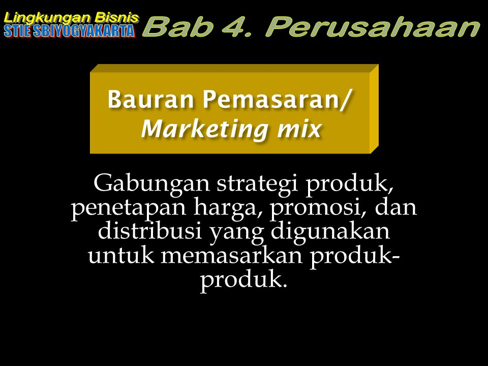 Bauran Pemasaran/ Marketing mix