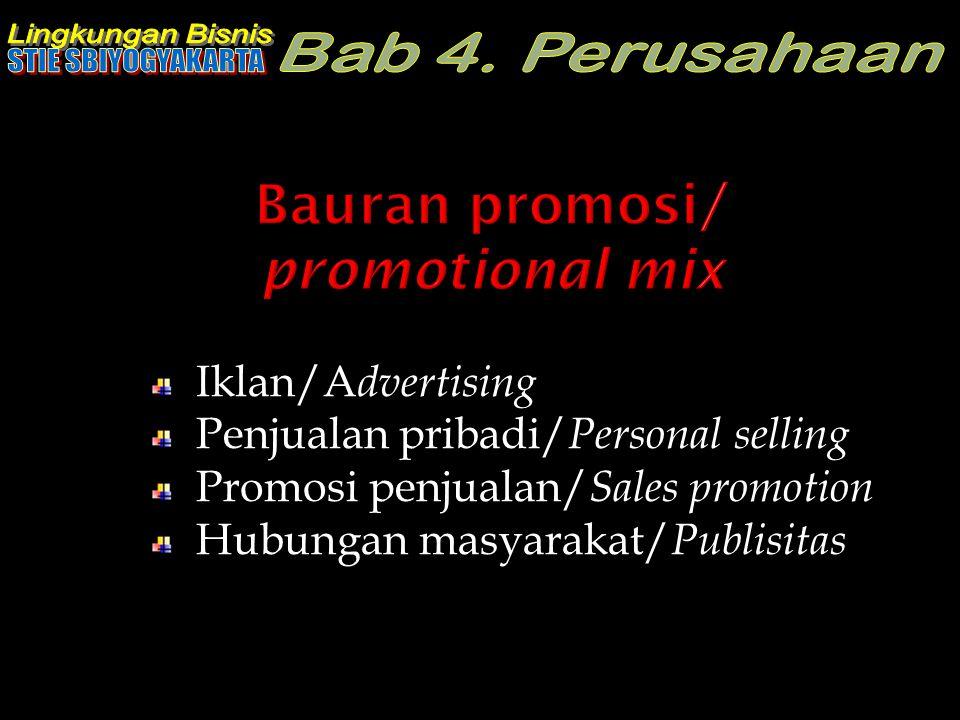 Bauran promosi/ promotional mix