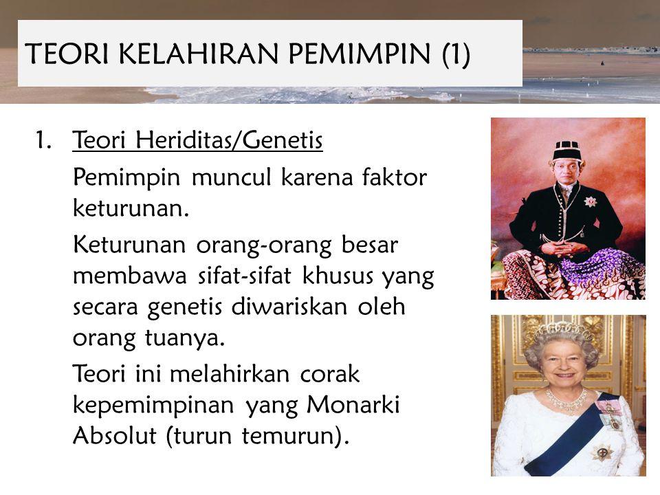 TEORI KELAHIRAN PEMIMPIN (1)