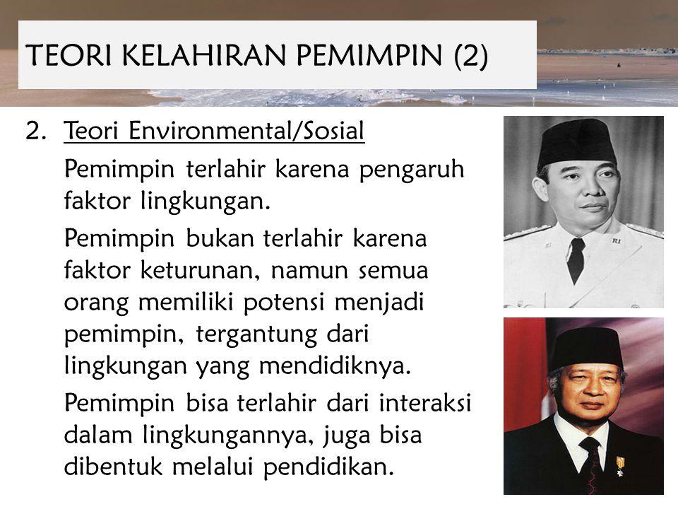 TEORI KELAHIRAN PEMIMPIN (2)