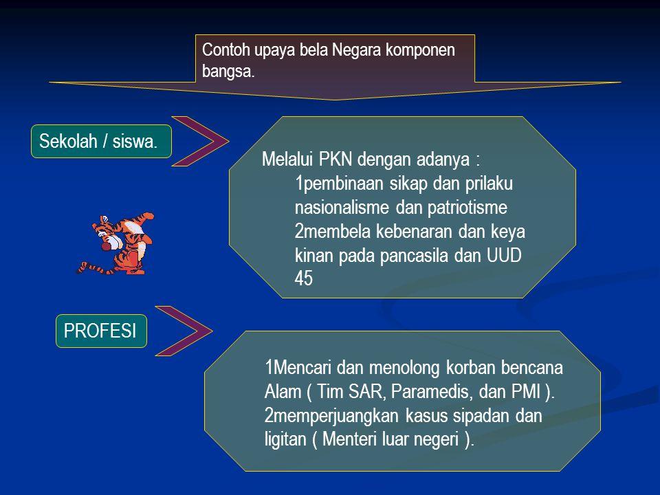Melalui PKN dengan adanya : pembinaan sikap dan prilaku