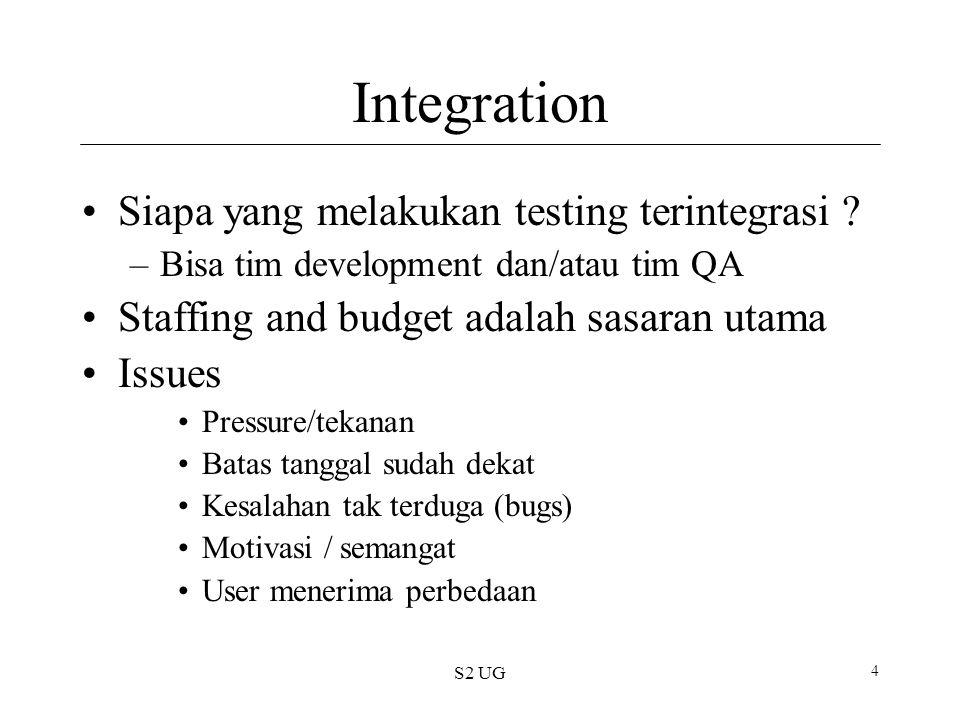Integration Siapa yang melakukan testing terintegrasi