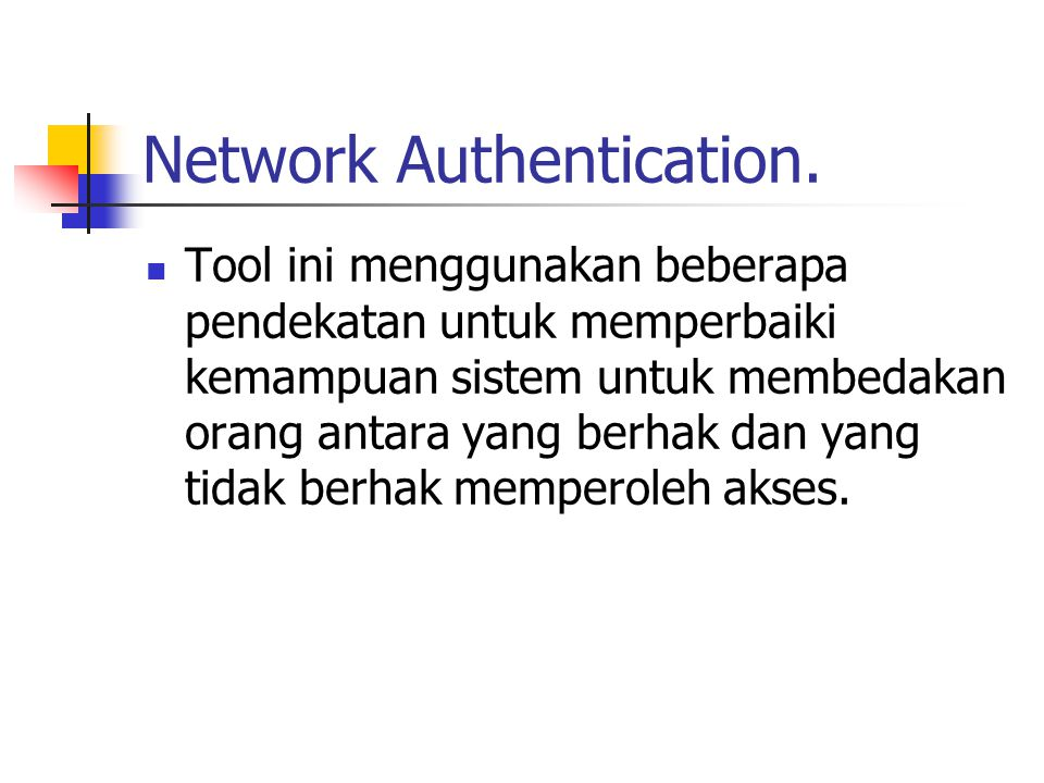 Network Authentication.