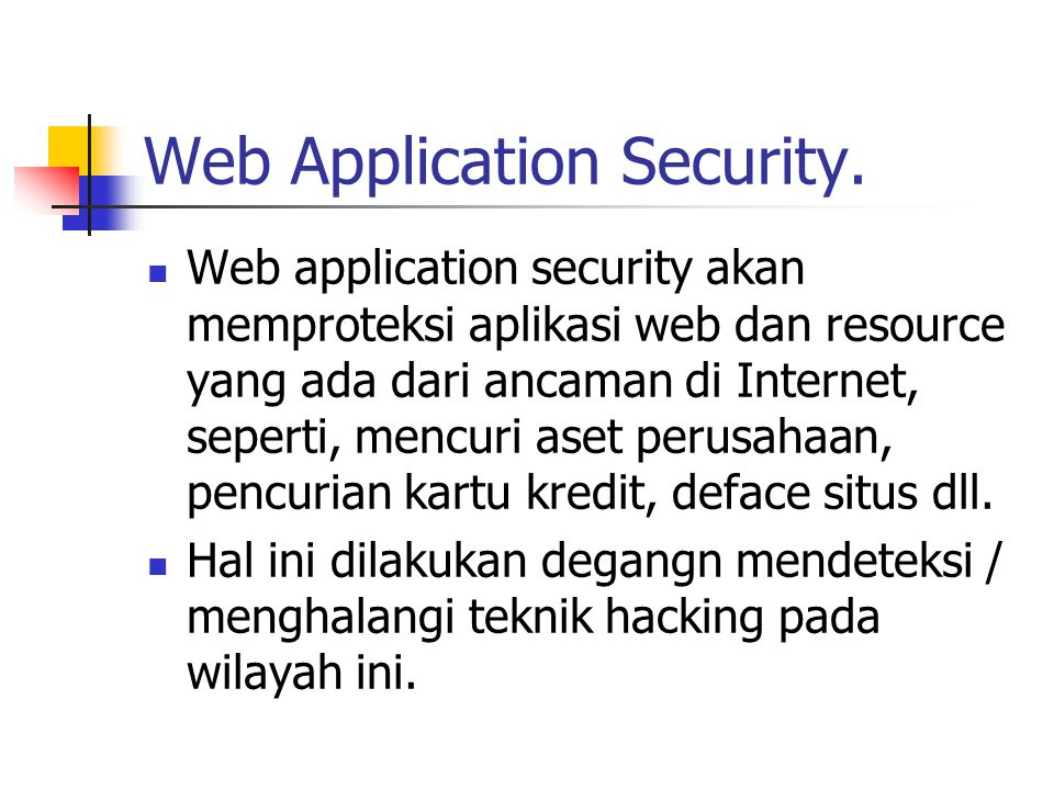 Web Application Security.