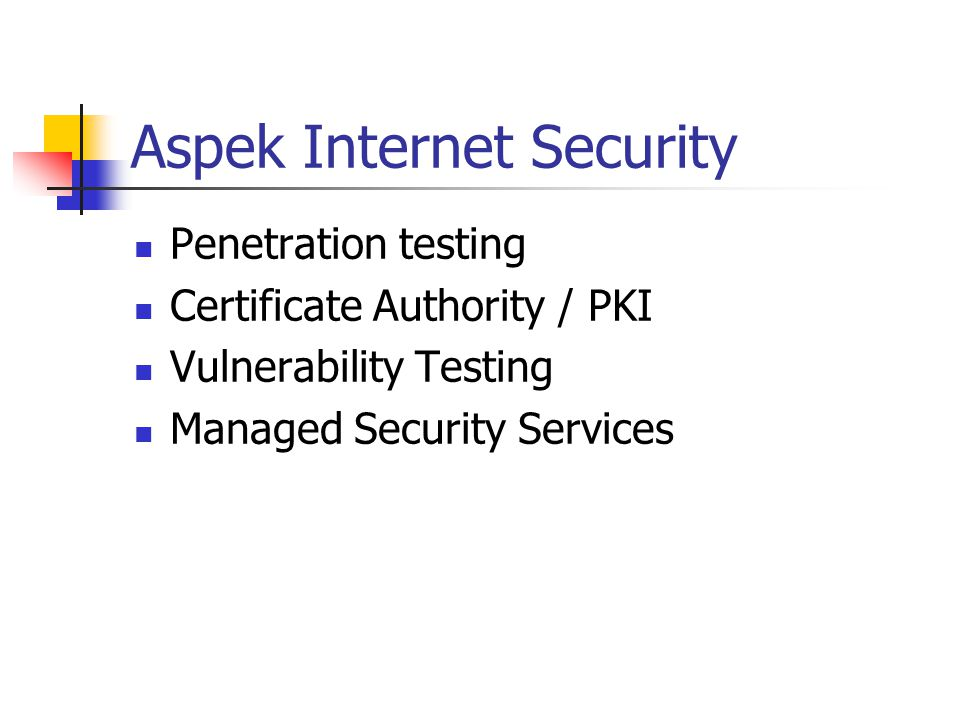 Aspek Internet Security