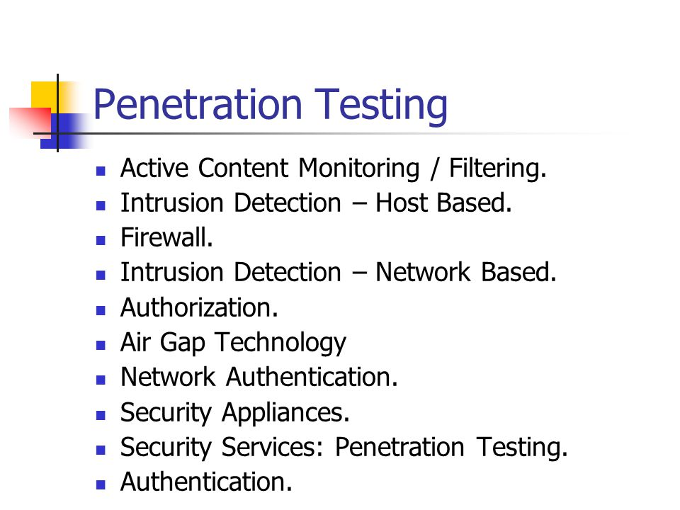 Penetration Testing Active Content Monitoring / Filtering.