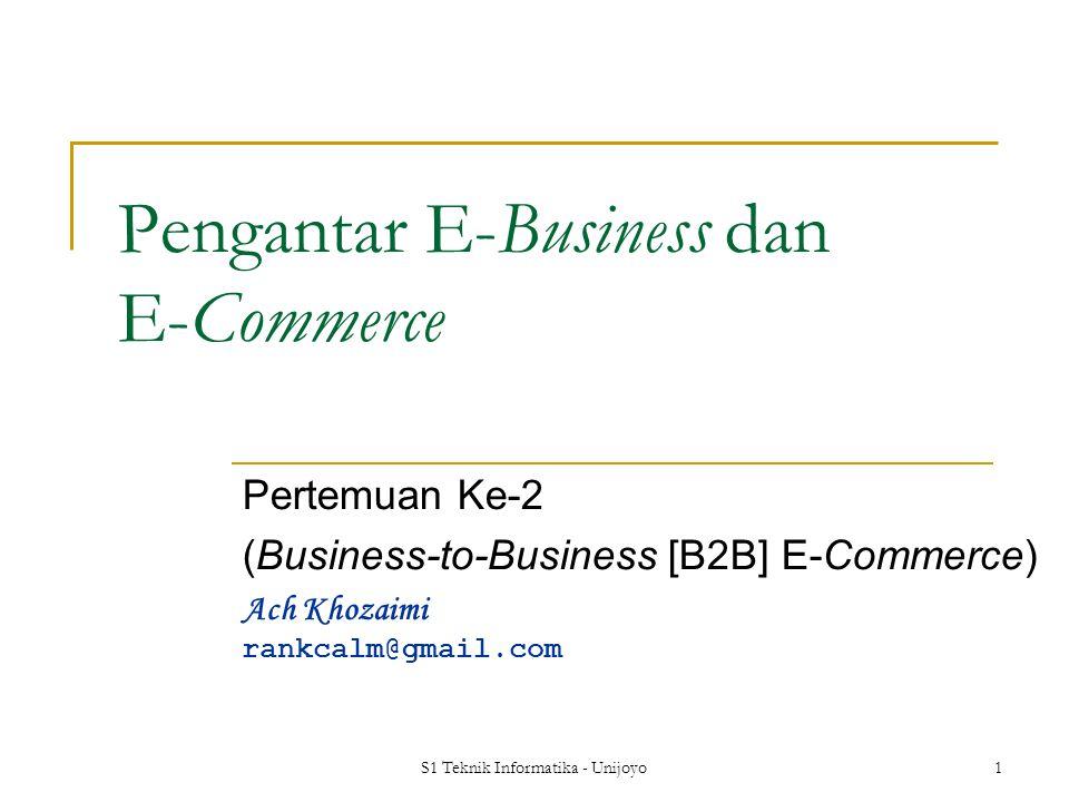 Pengantar E-Business dan E-Commerce